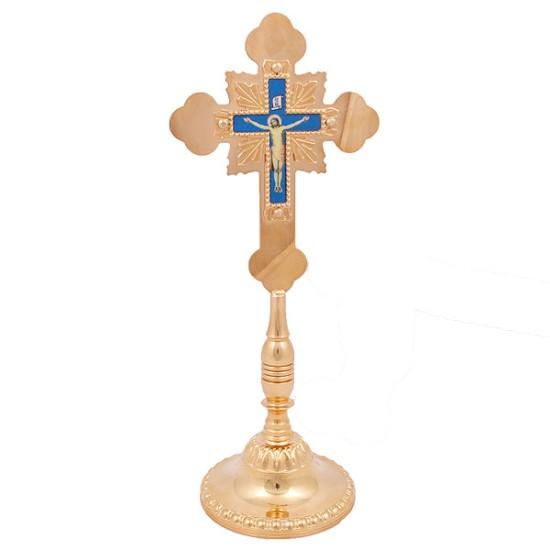 Prestoni krst mesingani - pozlaćen