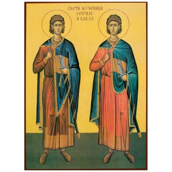 Sveti mučenici Sergije i Vakha - Srđevdan (33x24) cm