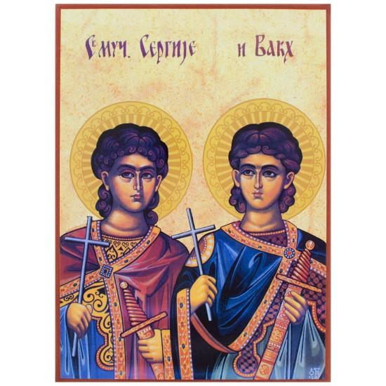 Sveti Sergija i Vakha - Srđevdan (33x24) cm
