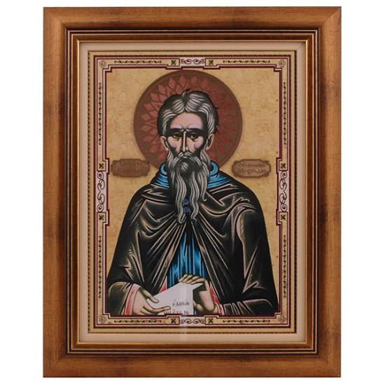 Prepodobni Kirijak Otšelnik - Miholjdan (40x32) cm