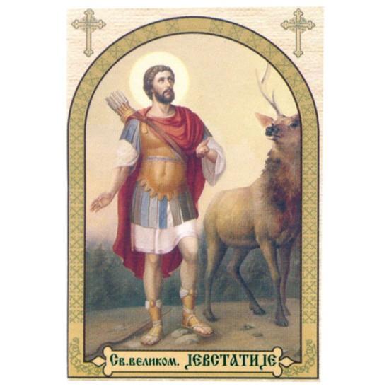 Sveti velikomučenik Jevstatije, ikone za sveće