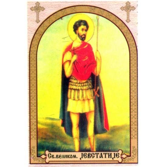 Sveti Jevstatije, ikone za sveće