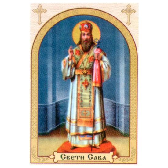 Sveti Sava, ikone za sveće