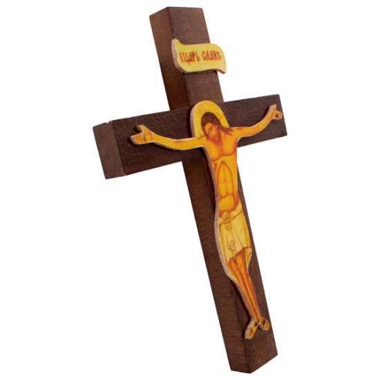 Krst drveni zidni