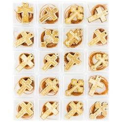 Wooden crosses (20 pieces)