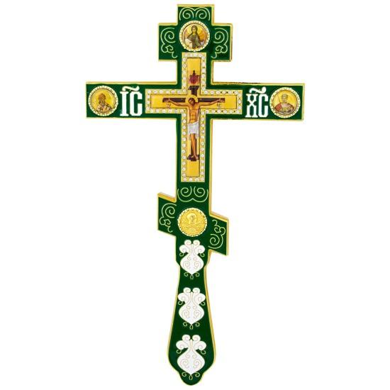 Ručni krst - zeleni (26x6) cm