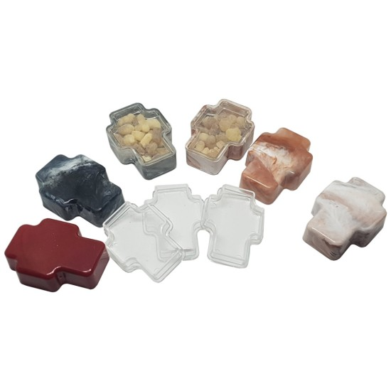 Kutija za tamjan u obliku krsta (pakovanje 100 kom, razne boje)
