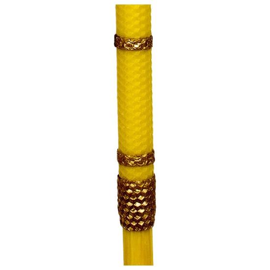 Slavska sveća sa saćem od pčelinjeg voska